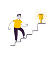 businessman going up stairs or career growth vector image