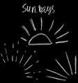 chalk sunburst set grunge sunrays collection vector image