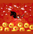 chinese new year 2018 plum blossom and coin vector image vector image