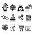 Christmas Xmas celebrate icons set vector image
