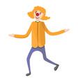 circus clown icon cartoon style vector image vector image
