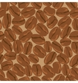 coffee beans seamless background template vector image vector image
