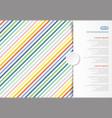 colorful stripes pattern oblique lines copy space vector image vector image