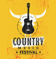 country music festival creative textured vector image vector image