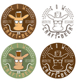 cow craft beer hipster style restaurant negative vector image vector image