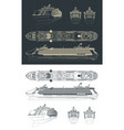 cruise ship drawings vector image vector image