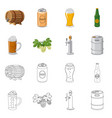 design of pub and bar logo set of pub and vector image vector image