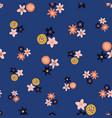 ditsy scandinavian style folk flowers vector image vector image