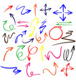 doodle arrows in different colors vector image