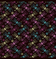 dragonfly pattern background vector image vector image