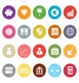Finance flat icons on white background vector image vector image