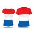 Flag shirt design of Netherlands vector image vector image