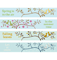 Four seasonal banners vector image