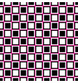 geometrical seamless pattern - square design vector image vector image