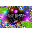 Glowing color Christmas Lights Wreath for Xmas vector image vector image
