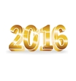 gold 2016 numbers vector image