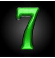 green plastic figure 7 vector image