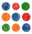 grunge ink rubber stamp shape icon set vector image vector image