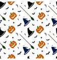 halloween pattern on white background vector image