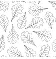 hand drawn oak leaves isolated on white background vector image vector image