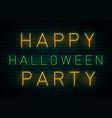 happy halloween neon vector image vector image