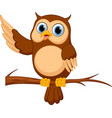 happy owl cartoon vector image vector image