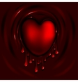 Heart and Blood vector image vector image