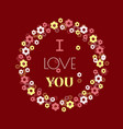 heart and flowers gift for your loved vector image vector image
