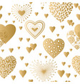 hearts seamless background vector image vector image