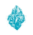 Iceberg Hand Draw Sketch vector image vector image