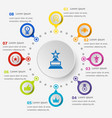 infographic template with winner icons vector image
