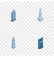 isometric construction set of exterior business vector image