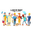 labor day modern workers set isolated vector image