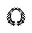 laurel wreath black modern symbol of victory and vector image vector image