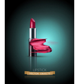 lipstick with smeared lipstick isolated vector image