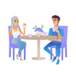 meeting or date of two vector image vector image