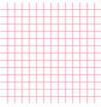 notebook paper texture pink cell template squared vector image