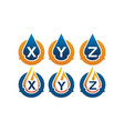 oil water pipe solutions initial set vector image