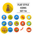 oktoberfest set icons in flat style big vector image vector image