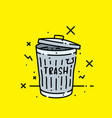 old trash can icon vector image vector image
