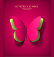paper cut- out butterfly vector image vector image
