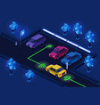 parking lot isometric 3d for vector image vector image