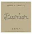 Retro template for Barber Shop vector image