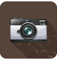 Retro vintage camera on tile vector image vector image