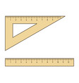 ruler and triangle setsquare vector image vector image