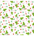 salad seamless pattern vector image vector image