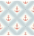 Seamless pattern of anchor shape and line vector image vector image
