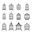 set of modern bird cages editable vector image vector image