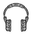 styled headphones vector image