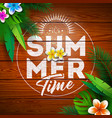 summer paradise holiday design with flower vector image